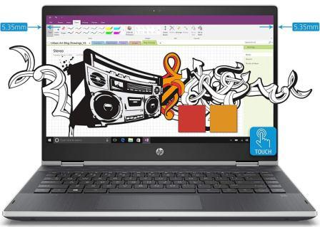 HP Pavilion x360 Intel Core i3 8th Gen 14-inch Touchscreen 2-in-1 FHD Thin and Light Laptop (4GB 1TB+8GB SSHD Windows 10 Home MS Office Natural Silver 1.59 kg), cd0077TU