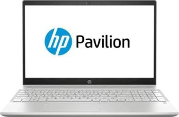 HP Pavilion Core i5 8th gen 15.6-inch FHD Laptop (8GB 1TB HDD Win 10 2 GB MX130 DDR5 Graphics MS Office Mineral Silver 2.04 kg), 15-cs1000tx